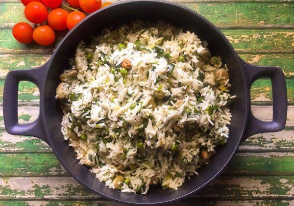 אורז אביבי ירקרק
